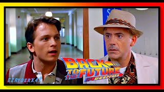 Robert Downey Jr and Tom Holland in Back to the future - This is heavy! [ deepfake ]