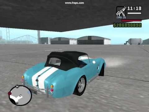 Shelby Cobra Sound Mod In GTA: San Andreas+starter And Reverse Gear Sound Mod