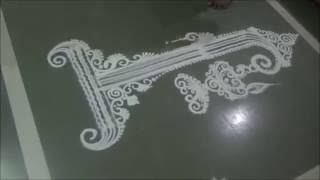 How to draw Unique Rangoli design Creative Rangoli Diya Rangoli by Satish Thavi