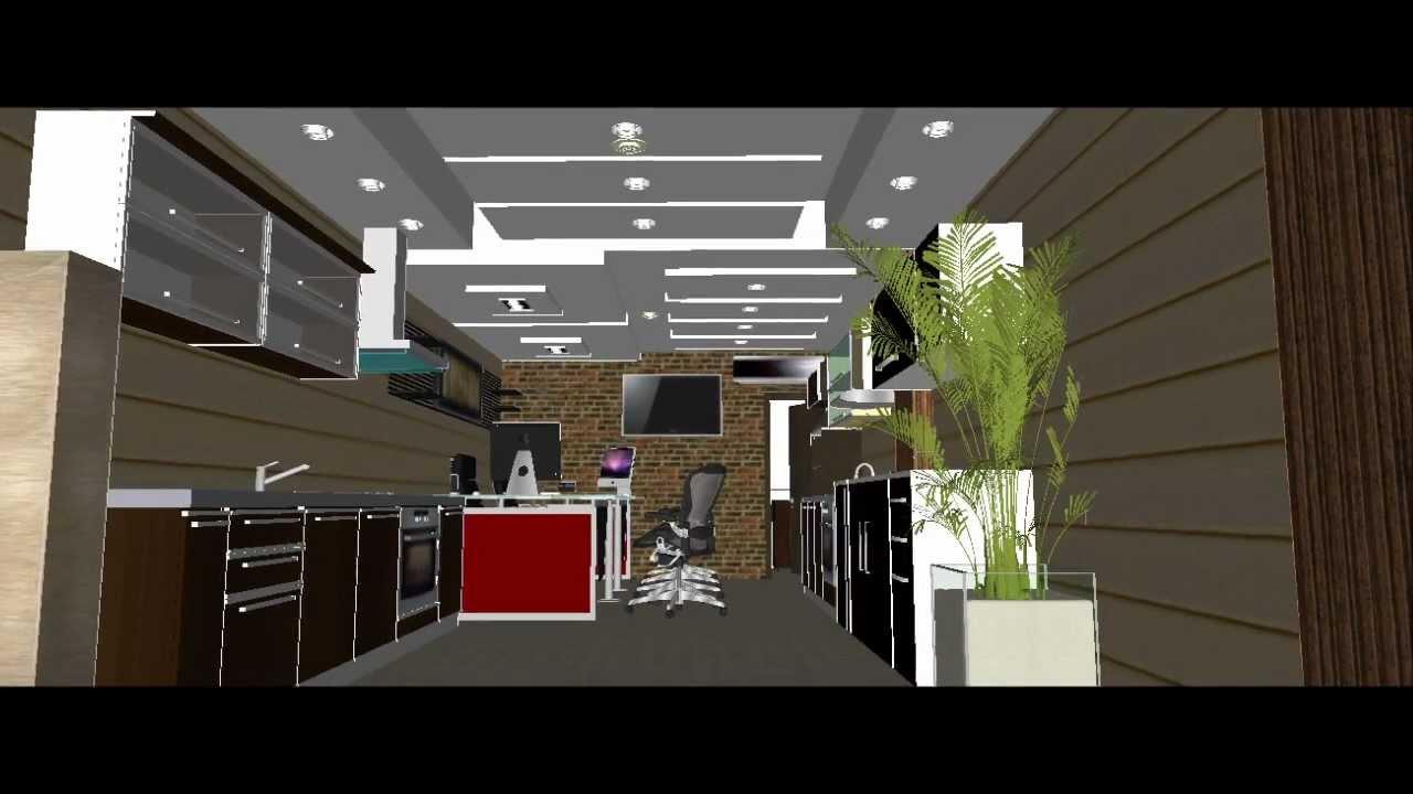 Dise o de cielo raso para un fabricante de cocinas youtube for Modelos de cielo raso para salas