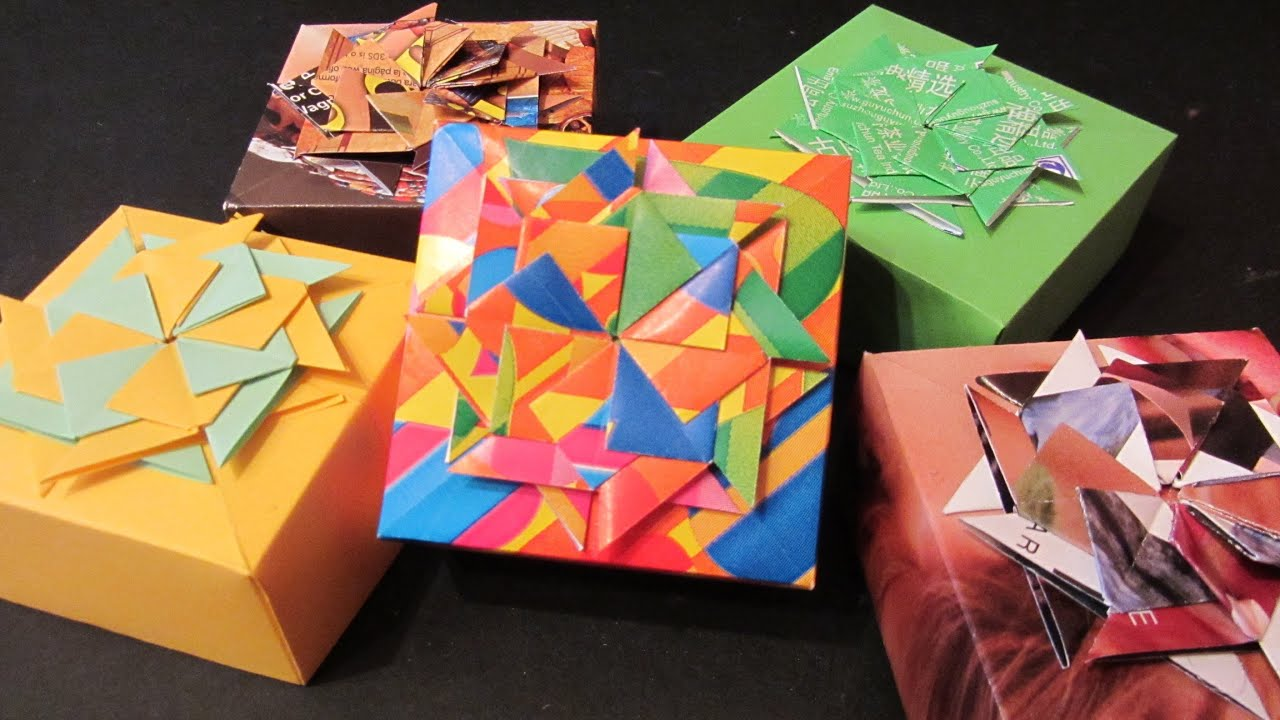 Tutorial Cajitas decoradas Boxes made of magazines