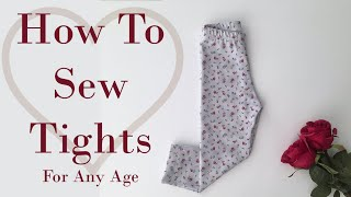How to Sew Tights   Tutorial   DIY