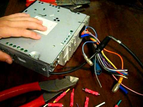hqdefault how to wire car radio pt1 youtube pioneer dxt x2769ui wiring diagram at bayanpartner.co