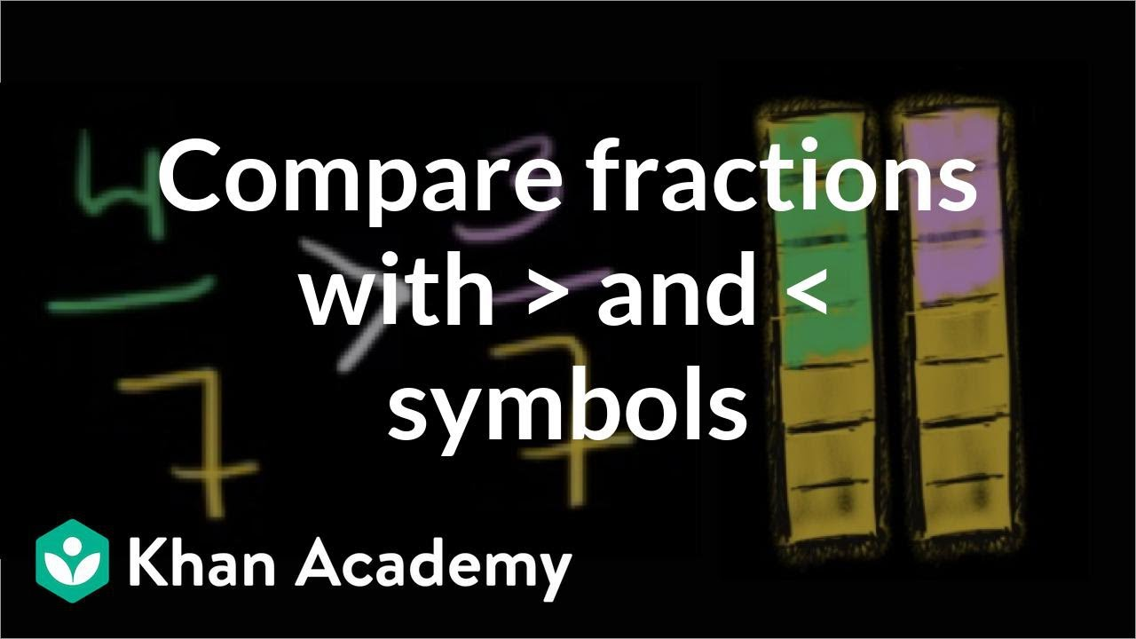 Comparing fractions with greater than and less than symbols comparing fractions with greater than and less than symbols fractions pre algebra khan academy biocorpaavc Choice Image