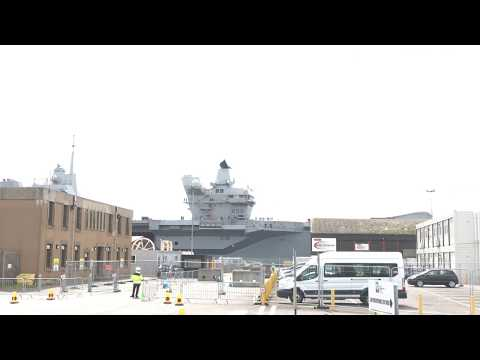HMS Queen Elizabeth royal navy aircraft carrier invergordon 2017