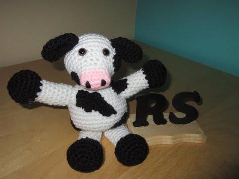 Amigurumi Vaca : Crochet amigurumi cow youtube