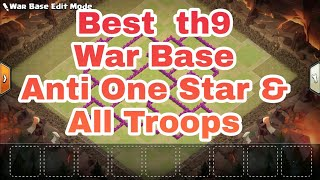 Best th9 War Base Teaser For Anti One Star And Trophy Booster| Clash of Clans | ✓