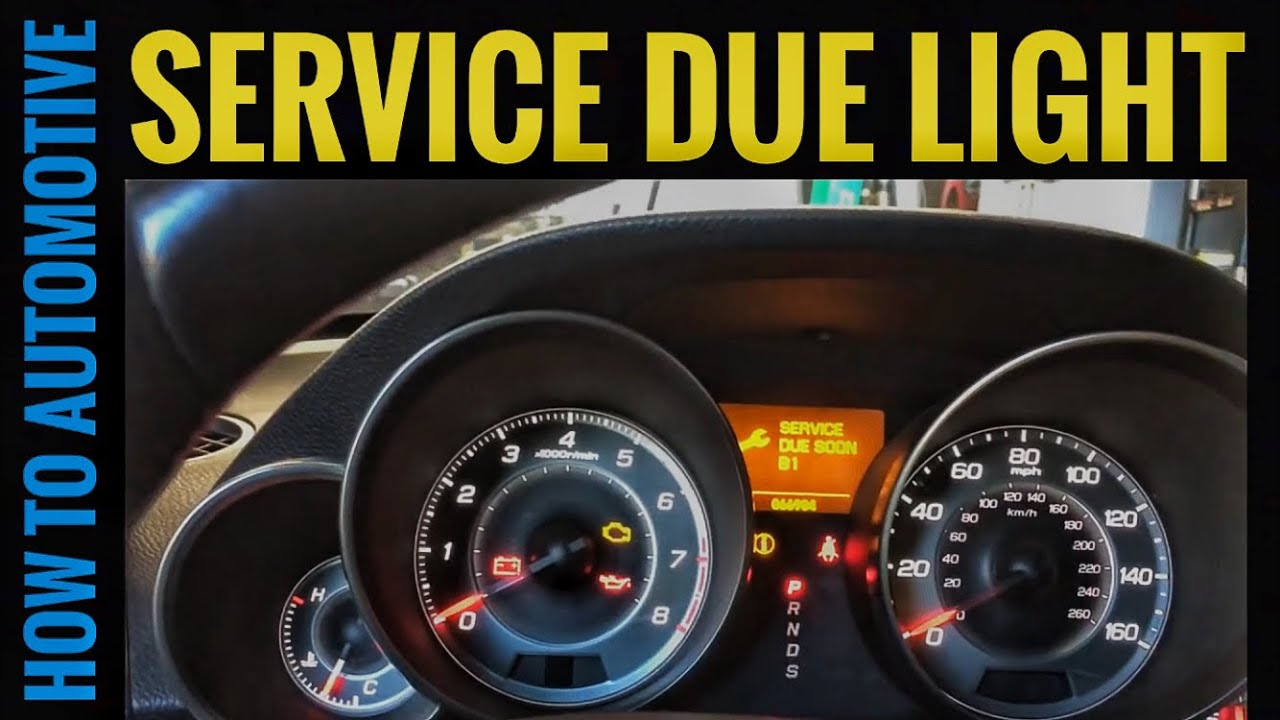 How To Reset The Oil Change Service B1 Due Light On A 2010 Acura Mdx