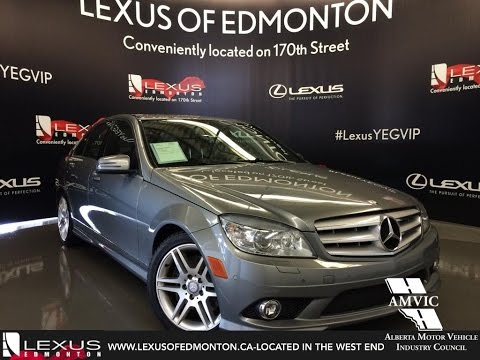 Used 2010 Silver Mercedes-Benz C-Class C300 4MATIC In Depth Review Ponoka Alberta