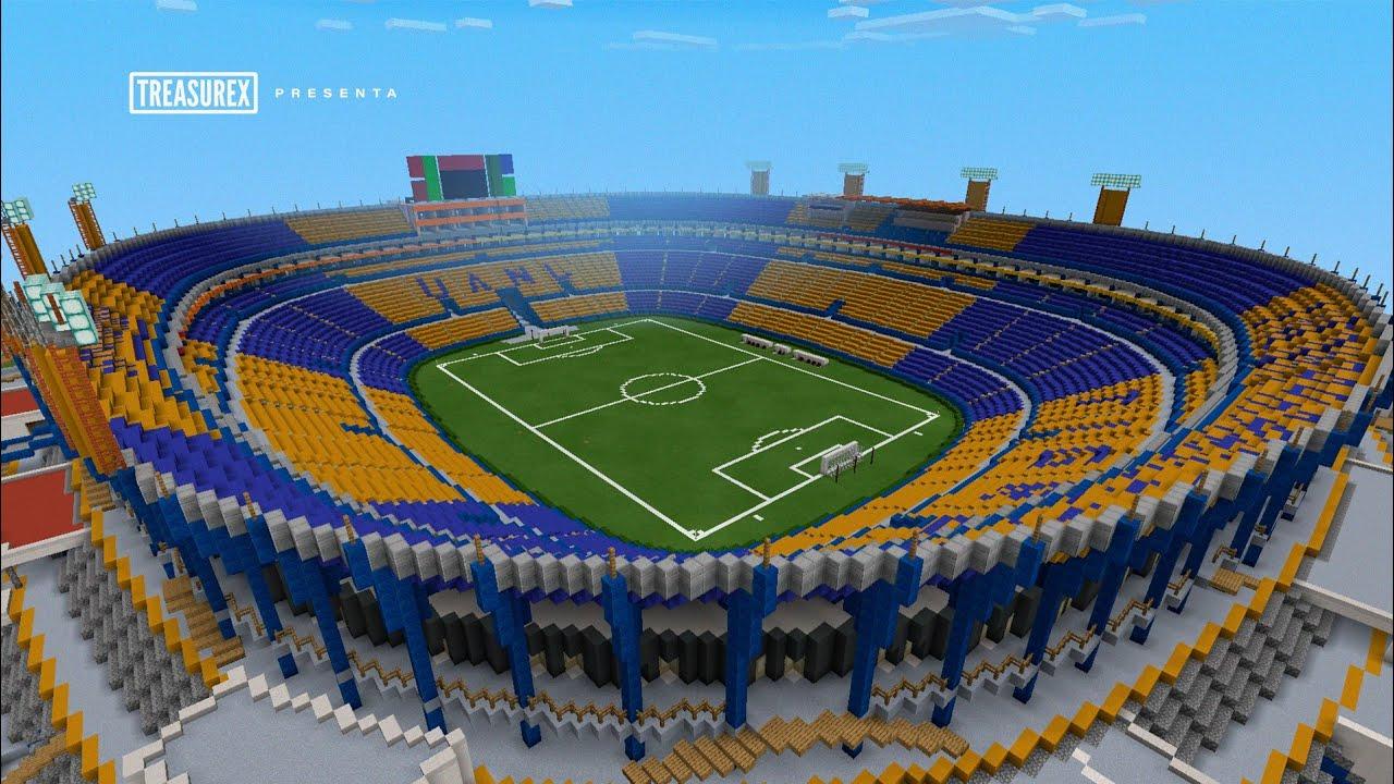 Minecraft Pe Estadio Universitario De La Uanlclub De Fútbol