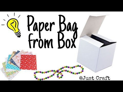 diy-paper-bag-from-waste-box-|-reuse-box,-beads-and-design-papers-|-5-min-craft-|-just-craft