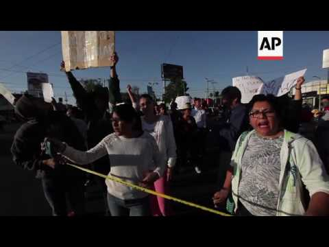 Mexicans protest 20 per cent hike in gas prices
