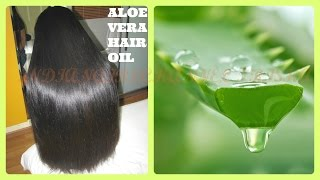 How to get Long, Soft, shiny, thick hair/ home made aloe vera hair oil