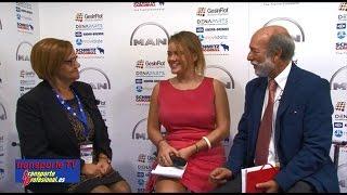 Carmen Castelao entrevistada por Javier Baranda en el XVI Congreso de la CETM