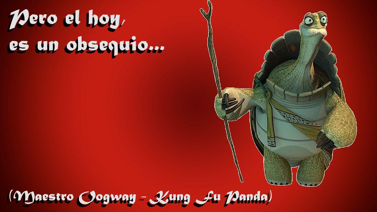 Pero El Hoy Es Un Obsequio Maestro Oogway Kung Fu Panda Youtube