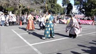 伝統神事 静岡浅間神「大的式」