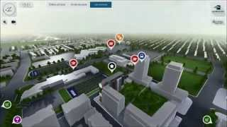 Interactive 3D Real Estate application for multitouch touchscreen