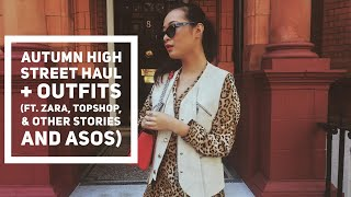 Autumn High Street Haul + Outfits ft. Zara, Top Shop, Asos and & Other Stories  wenwen stokes