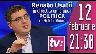 """Ренато Усатый в программе """"Politica"""" с Наталией Морарь."""