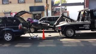 Погрузка мотоцикла в машину прикол