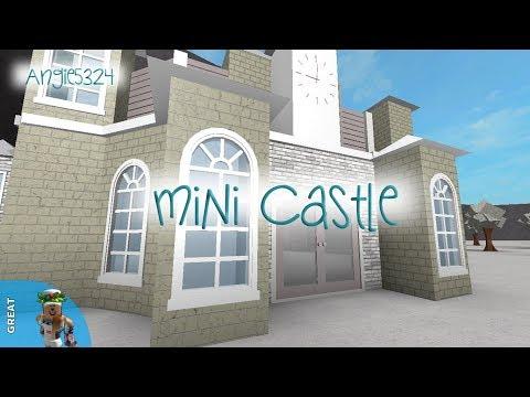 Welcome To Bloxburg Mini Castle Speed Build Youtube - roblox bloxburg castle
