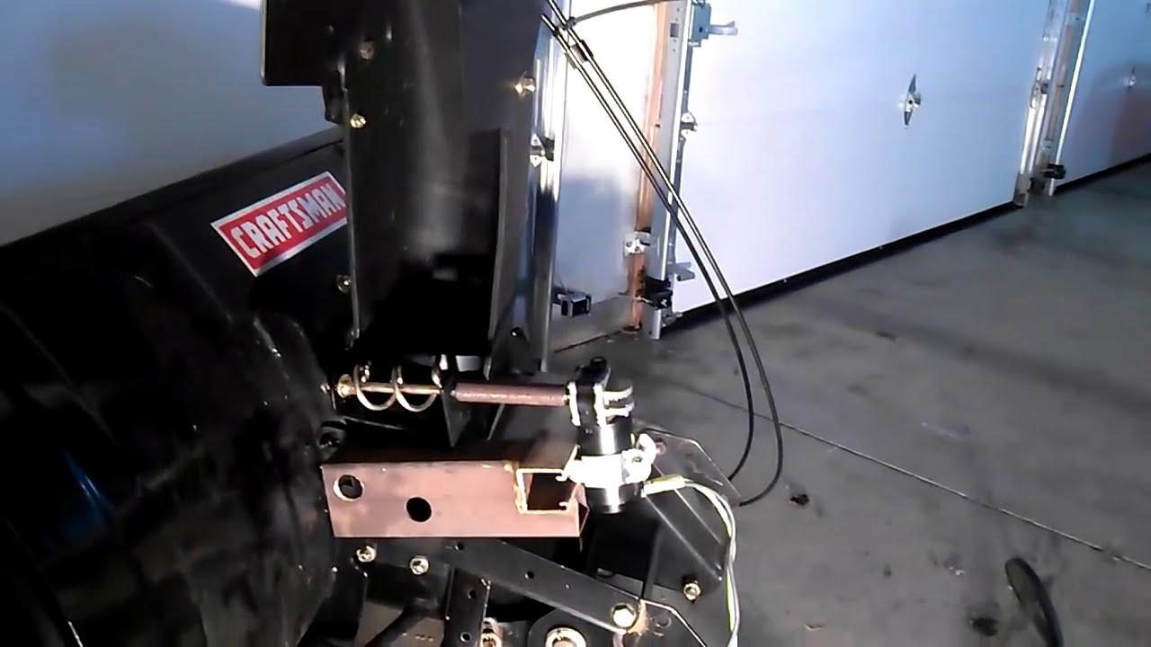 Garage Door Wiring Schematic Craftsman Snowblower Chute Converted From Manual Hand