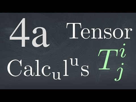 Tensor Calculus Lecture 4: The Tensor Notation