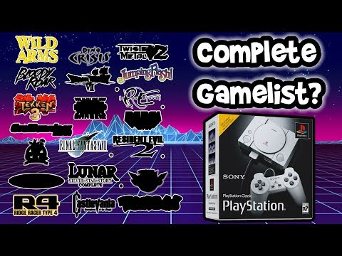 Playstation Classic Complete Gamelist! What Are The Other 15 Games? Speculation & Predictions!