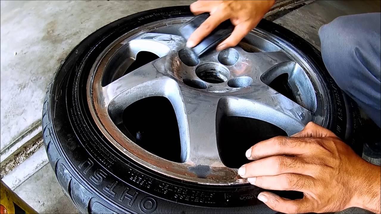 How To Polish Aluminum Wheels >> How To Polish Aluminum Wheels pt1 - YouTube