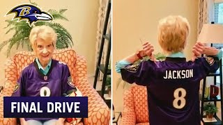 Lamar Jackson Shows Support for 92-Year-Old Fan | Ravens Final Drive
