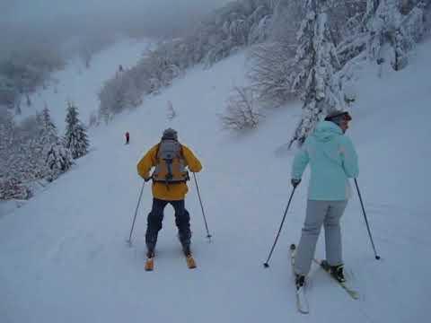 Групповой спуск на лыжах (GoPro)