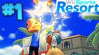 Wii Sports Resort Basketball Pickup Game Part 1- TAKING HITS