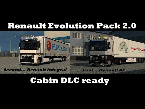 ets2 renault integral ae pack cabin accessories dlc youtube. Black Bedroom Furniture Sets. Home Design Ideas