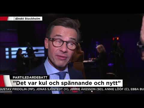 """Ulf Kristersson (M) om sin första partiledardebatt: """"Blir lätt lite tjafsigt"""" - Nyheterna"""