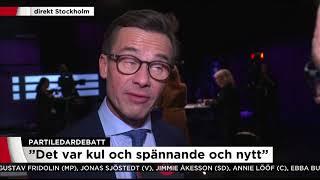 Ulf Kristersson (M) om sin första partiledardebatt: