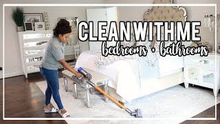 Clean With Me Bedrooms + Bathrooms | NitraaB