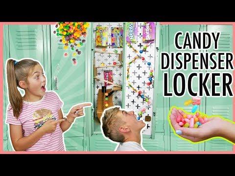 Back To School DIY Locker Candy Dispenser | Best Locker Decor!