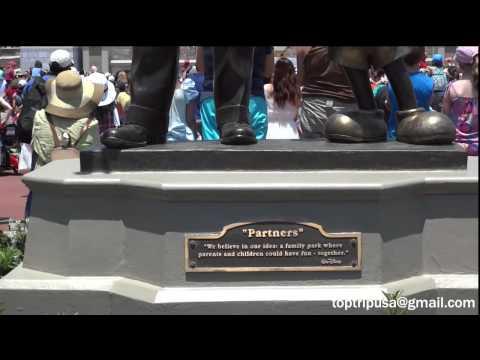 Disney Magic Kingdom HD - Statue Partners Walt Disney and Mickey - Estatua Bronze