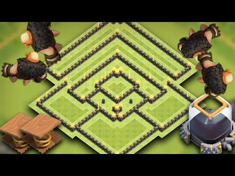 TH9 (Town Hall 9) Best Dark Elixir Farming Base 2017 | Perfect Spring Traps + Relays *Flying Giants*
