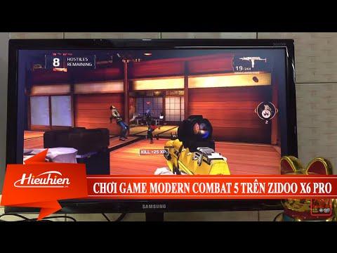 [Hieuhien.vn] Reviews game bắn súng đột kích Modern Combat 5 trên Zidoo X6 PRO Android TV Box 8 nhân