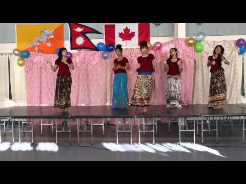 (Chiya ko botai ma)Dance by Bhutanese-Nepali girls in Ottawa