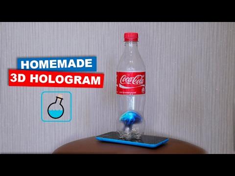 DIY 3D Hologram dari botol Coca Cola. LifeHacks