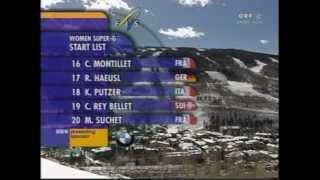 Ski WM Vail 1999 - Damen Super G