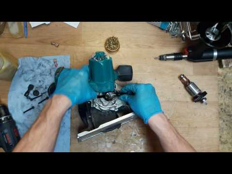 How to repair Makita DSS610 LXT 18V li-ion li ion circular saw armature replace