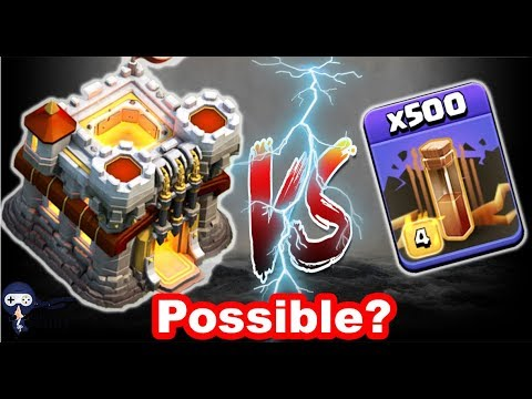 500X Max Earthquake Spells Vs Town Hall Clash Of Clans Gameplay | EQ Vs TH Clash Of Clans New Update