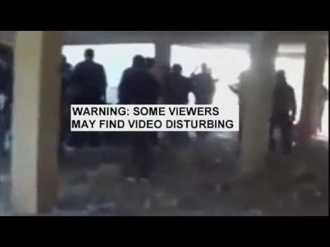 Syrian Rebels 'Execute' Government Soldiers.