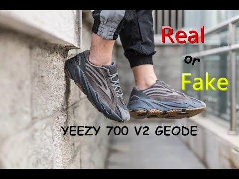 YEEZY 700 V2 GEODE REAL VS FAKE - YouTube
