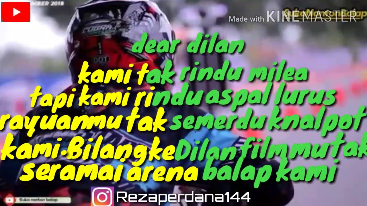 Quotes harian anak racing YouTube