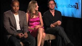 Zach Braff, Sarah Chalke, Donald Faison interview