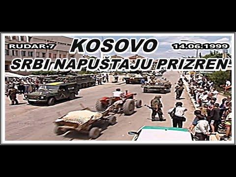 KOSOVO-SRBI NAPUŠTJU PRIZREN 14.06.1999